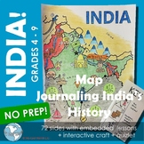 Map Journaling India's History! Interactive Lesson + Craft -- Distance Learning