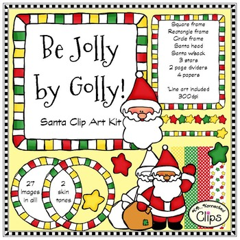 Be Jolly by Golly - Santa Clip Art Kit