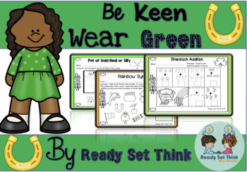 K, 1 Be Keen Wear Green on St. Patrick's Day (Social Studies and COMPREHENSION)