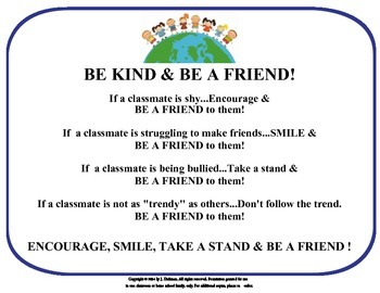 Be Kind & Be a Friend