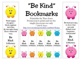 Be Kind Bookmarks - Character Education