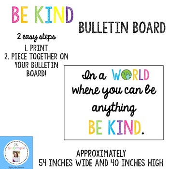 Be Kind Bulletin Board