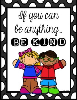 Be Kind Classroom Decor Poster