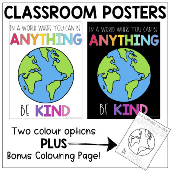 Be Kind Classroom Poster