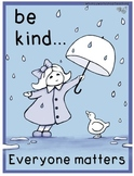 Be Kind (Classroom Poster) Whimsy Workshop Teaching #kindn