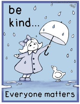 Be Kind (Classroom Poster) Whimsy Workshop Teaching