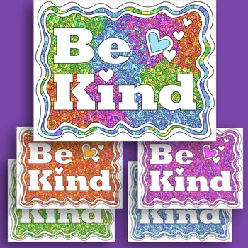 Be Kind Coloring Page Freebie