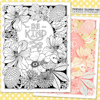 Be Kind Coloring Pages Worksheets Teaching Resources Tpt