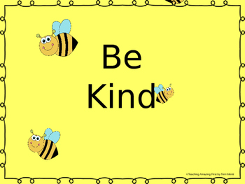 Be Kind   Kindness Powerpoint Presentation