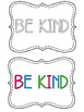 Be Kind: Literacy and Social Skills Activities