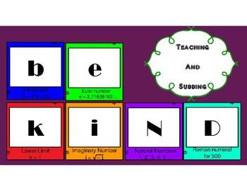 Be Kind Math Symbols