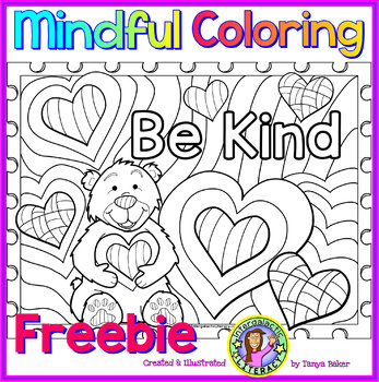 Be Kind - Mindful Coloring Freebie
