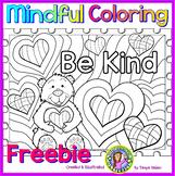 Be Kind - Mindful Coloring Freebie