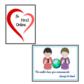 Be Kind Online Posters