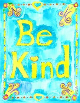 Kindness poster Be Kind Poster