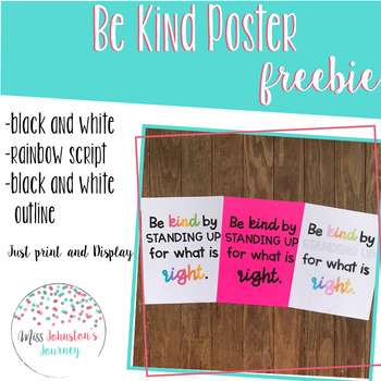 Be Kind Poster Freebie