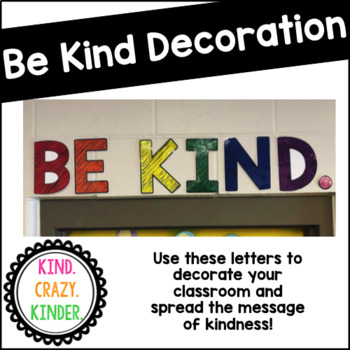 Be Kind Poster Letters