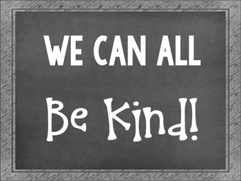Be Kind Printable Free Poster Black and White After the Election