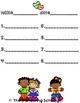 Be Kind Spelling Test Sheet - 8 word, 10 word, 12 word
