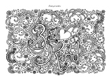 Be Kind colouring page