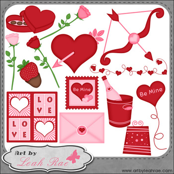 Be Mine 1 - Art by Leah Rae Clip Art & Line Art / Digital Stamps