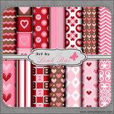 Be Mine 1 - Art by Leah Rae Digital Scrap Papers