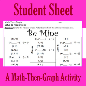 Be Mine - A Math-Then-Graph Activity - Solving Proportions