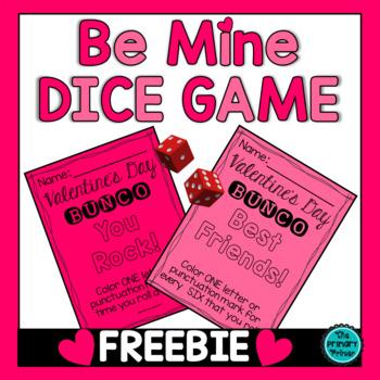 Be Mine BUNCO  A Valentine's Day Dice Game
