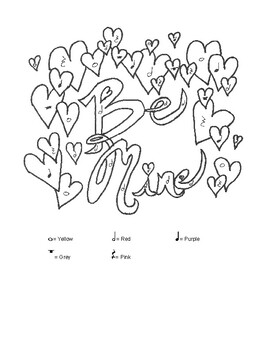 Be Mine Color-By-Note
