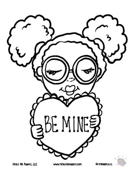 Be Mine - Coloring Sheet