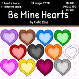 Be Mine Hearts Clip Art
