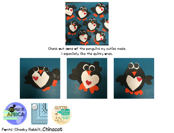 Be Mine! Penguin Valentine Craftivity ~ Freebie