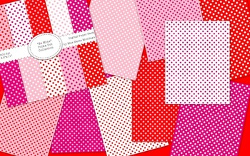 """Valentine's Day Themed Digital Paper Background - """"Be Mine"""" Polka Dot Collection"""