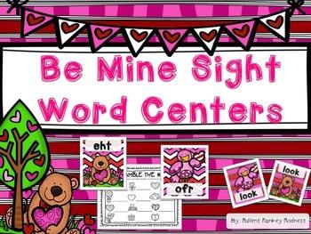 Be Mine Sight Word Center
