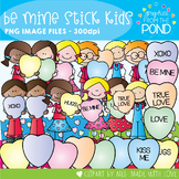 Be Mine Stick Kids - Clipart for Teaching Resources