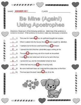 Be Mine: Using Apostrophes