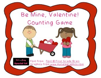 """""""Be Mine, Valentine!"""" Counting Game"""