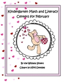 Be Mine Valentine ~ Math and Literacy Centers for Kindergarten