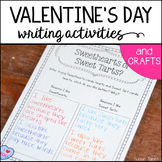 Be Mine, Valentine! {Valentine's Day Writing Activities & Crafts}