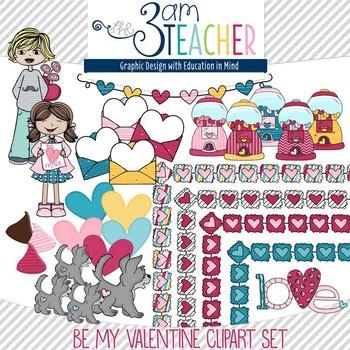 Be Mine: Valentine's Clipart Set