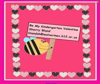 Be My Kindergarten Valentine