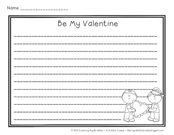 Be My Valentine - A Creative and Guided Writing Project Focusing on Friendship