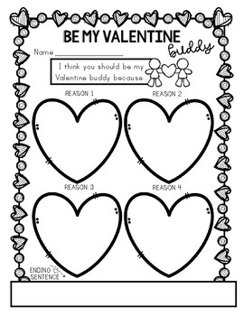 Be My Valentine Buddy: Persuasive Writing