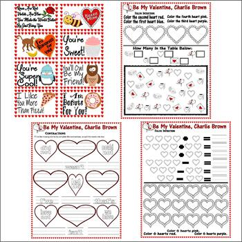Be My Valentine, Charlie Brown : Reading Comprehension 23pg Pack LINED PAPER