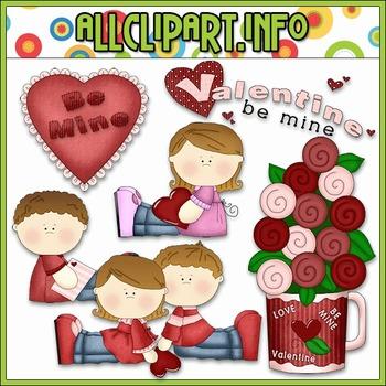 BUNDLED SET - Be My Valentine Clip Art & Digital Stamp Bundle - Alice Smith