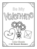 Be My Valentine Color Sheets