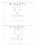 Be My Valentine Emergent Reader