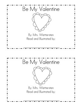 Be My Valentine Emergent Reader