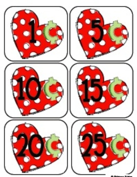 Be My Valentine Math Centers For Valentine's Day: Skip counting, money and more!