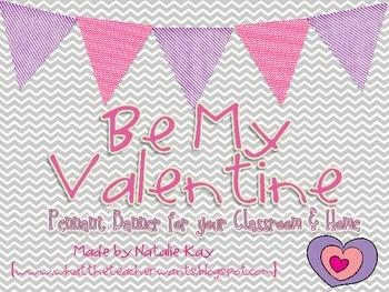 Be My Valentine Pennant Banner